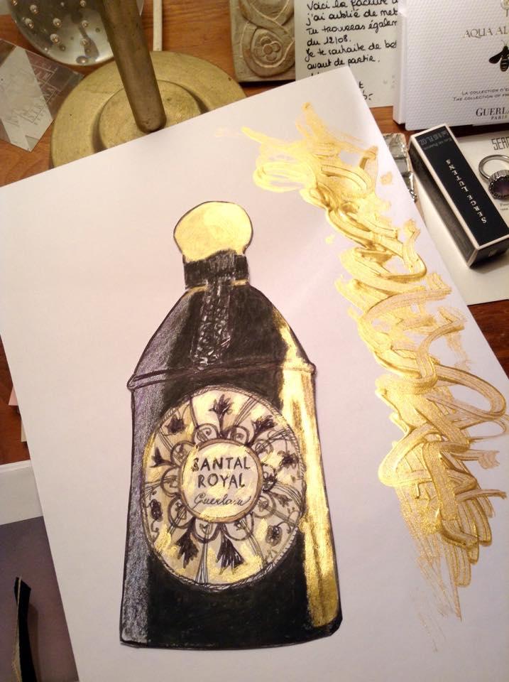 Santal Royal Guerlain Guerlinade zlatá černá
