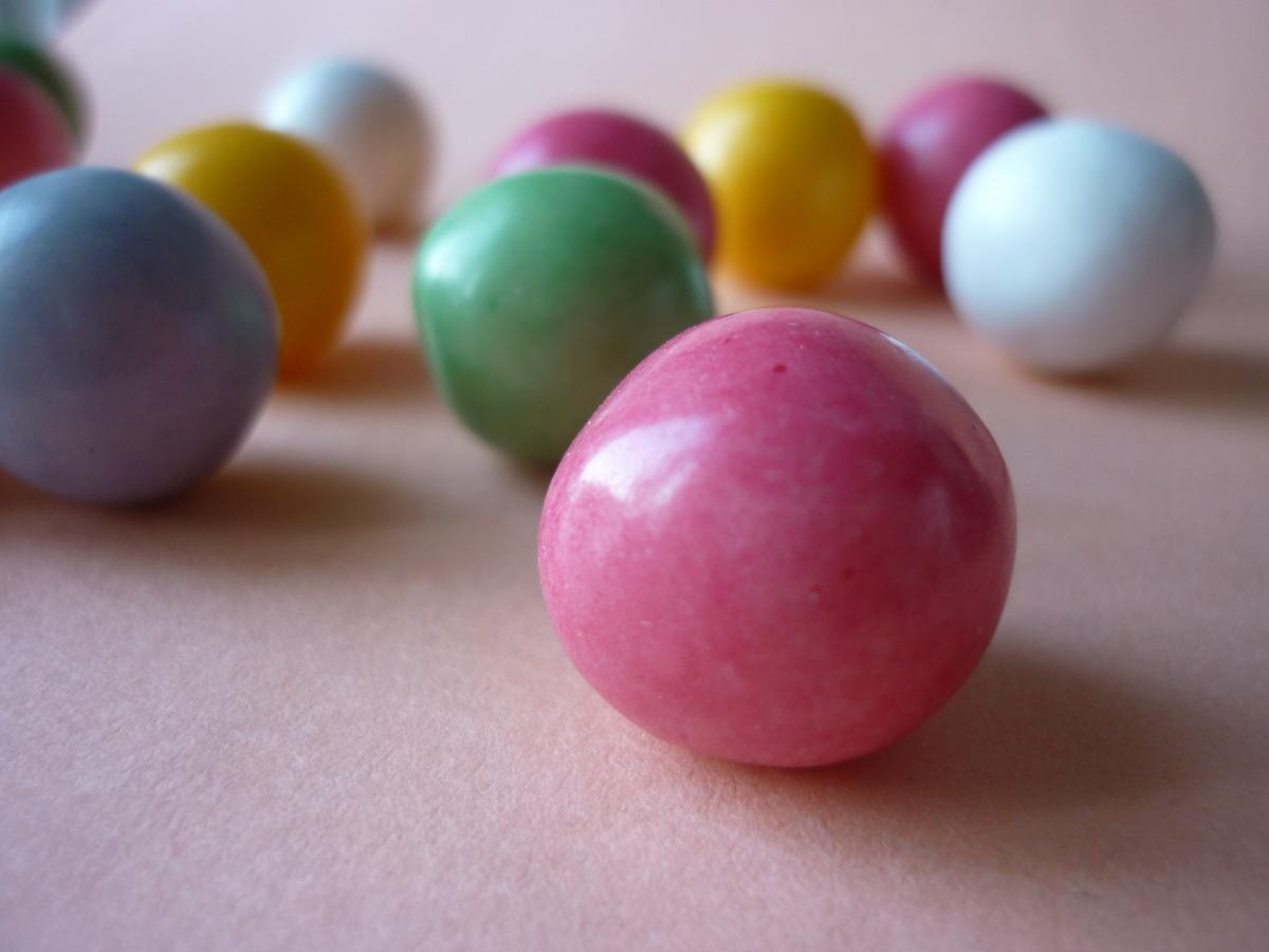 bubble gum colours žvýkačky Terracotta