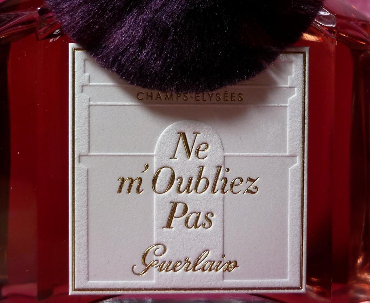 Guerlain Ne m´oubliez pas etiketa