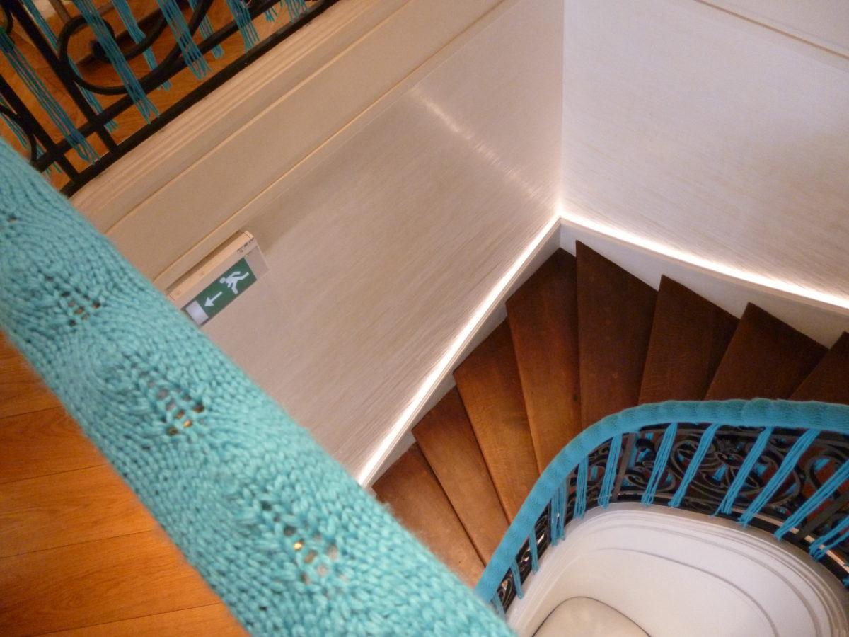 Maison Guerlain Belle Ville mezanin schodiště